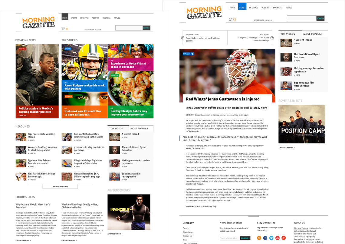 Montreal Gazette WordPress Theme