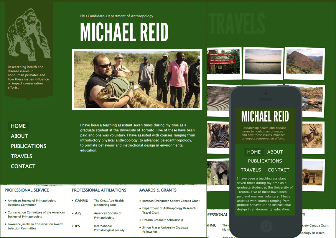Michael J.C. Reid - Responsive Website Design