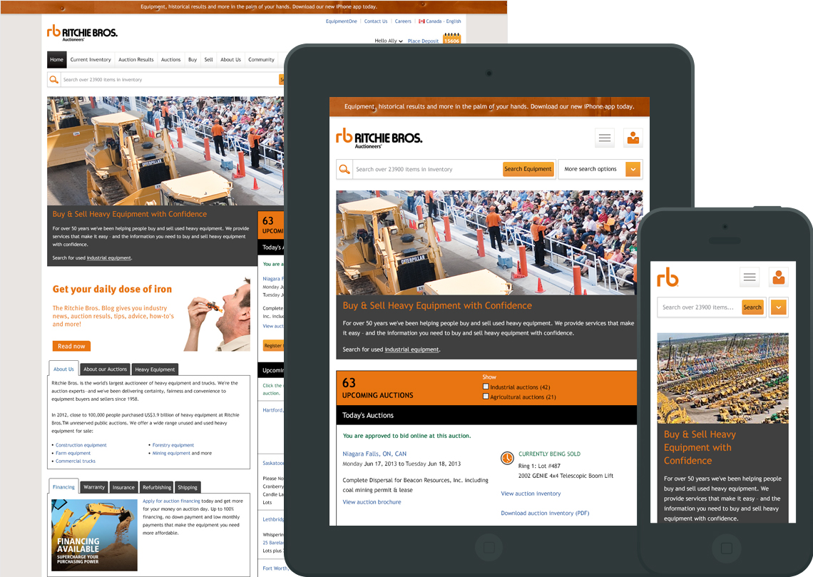 Ritchie Bros. Auctioneers - Responsive Redesign