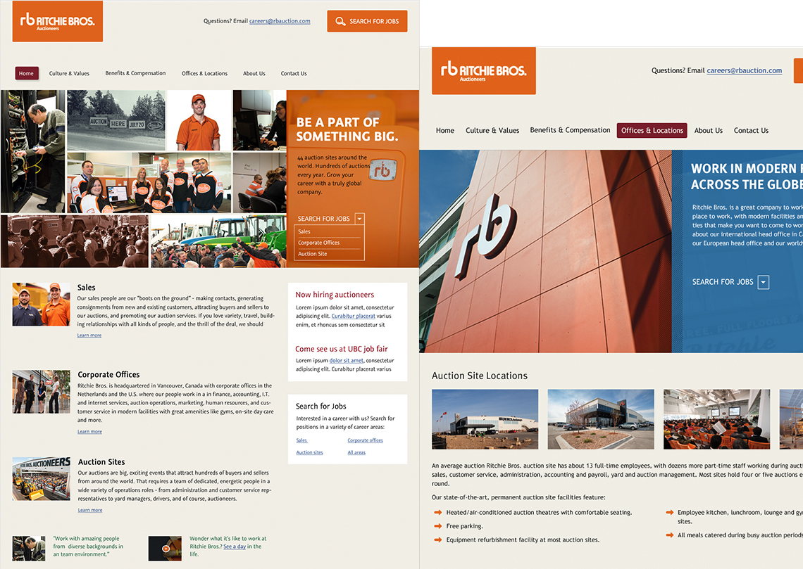 Ritchie Bros. Careers Site Design